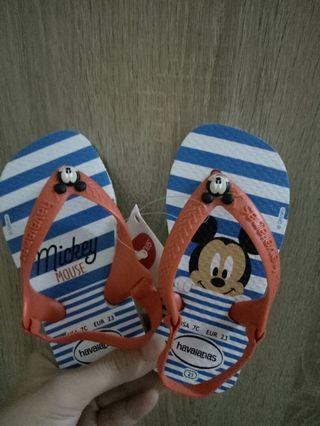 🚚 巴西 拖鞋 涼鞋 哈瓦仕 米奇童鞋 20、21號