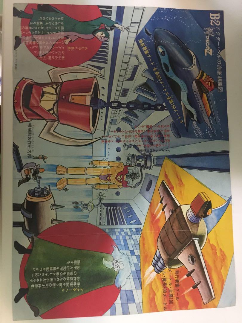 鐵甲萬能俠,雙面海報。年份1974