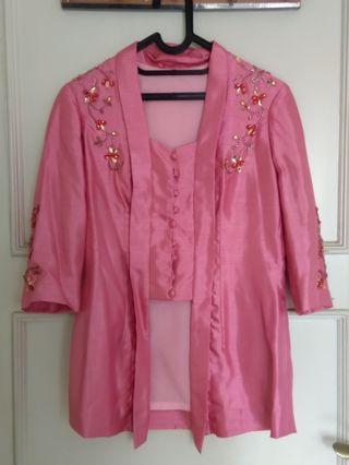 Pink kebaya - studded bisa M Dan L