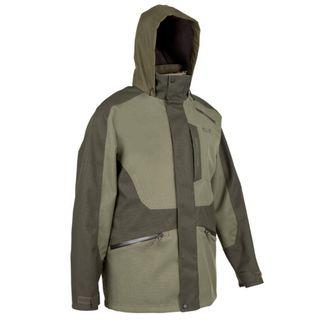 Decathlon Solognac Waterproof Khaki Jacket