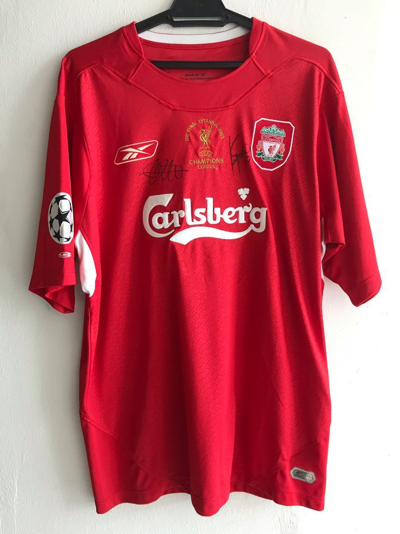 huge selection of 8f48b 36751 2005 Champions League Final Istanbul Liverpool Shirt Jersey