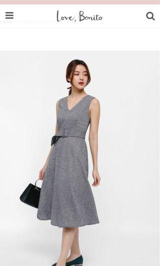 🚚 Love Bonito Franco Belted A-line dress in S