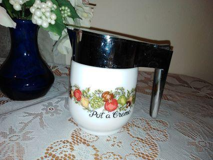 Vintage Gemco (spice of life) milk glass jar, h: 12cm