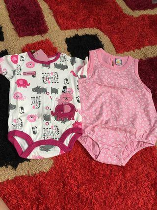 Baby Rompers size 6 months pink