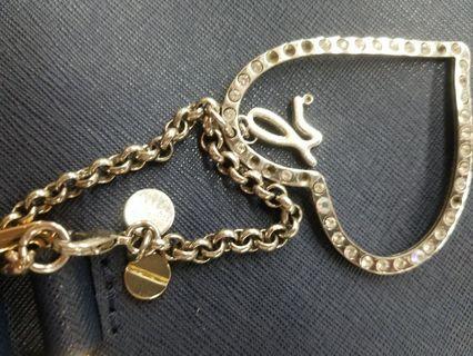 Agnes b 心心 匙扣  袋扣 key holder