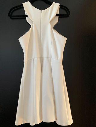SHEIKE mini white cut out dress
