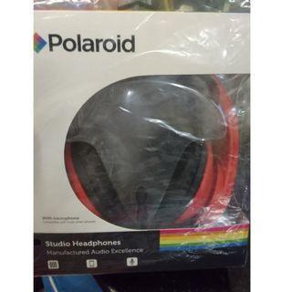 (紅色) Polaroid 頭戴式耳機連咪 PR-H004