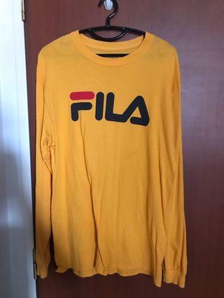 Yellow FILA pullover