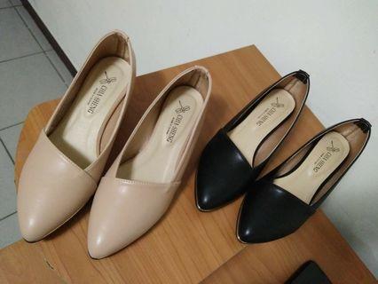 🚚 舒適低跟鞋 裸色 黑色 台灣製造