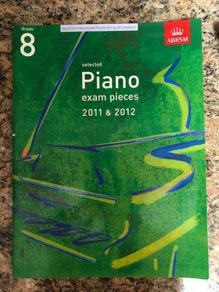 Piano book for grade 8 (negotiable)