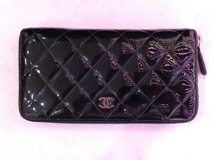 Chanel zipper wallet with receipt 2013