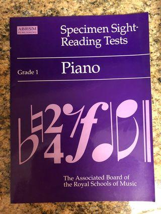 Piano book for grade 1 - Specimen sight - reading tests