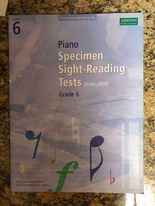 Piano book for grade 6