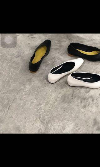 🚚 [ 現貨 ]Studio doe 圓跟尖頭包鞋 25 全新