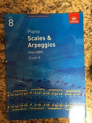 Piano book - Scales & Arpeggios for Grade 8
