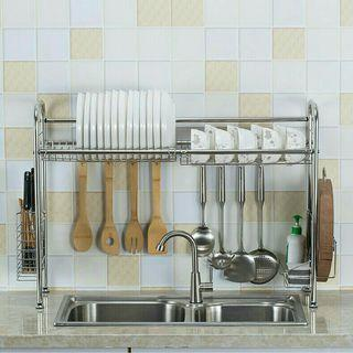 Stainless Steel Dish Rack (80 cm - Double Sink)