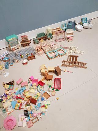 一堆森林家族 家具 模型