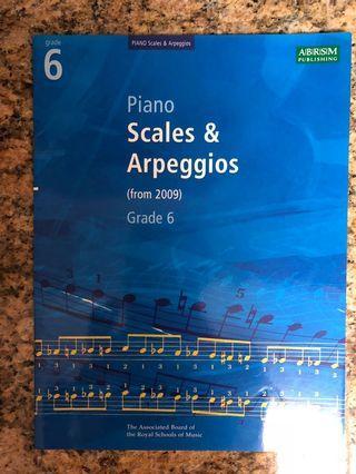 Piano book - Scales & Arpeggios for Grade 6