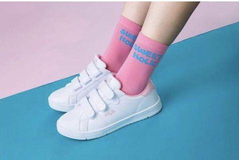 FILA 粉紅色韓國限定鞋