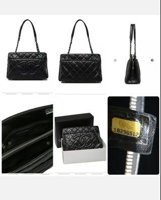 Chanel Timeless Tote Black Caviar with Silver-Tone Metal Hardware