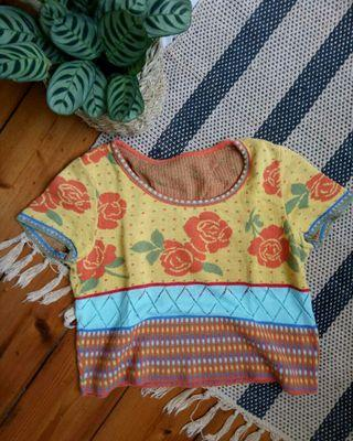 Knitted boho crop