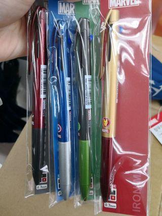 🚚 5/22結單韓國 大創 DAISO 漫威英雄系列 0.7mm 3色原子筆