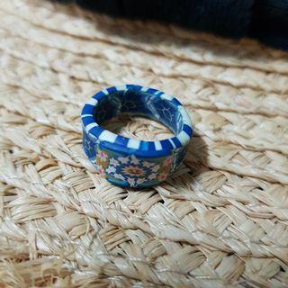 花卉彩繪戒指