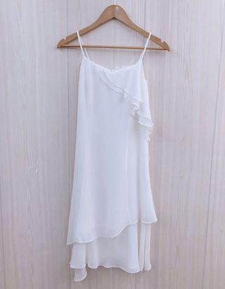 0918白色雪紡長洋裝
