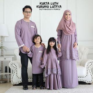 FAMILY SET KURTA LUTH & KURUNG LUTFYA SEDONDON