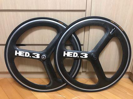 HED 3 carbon 碳纖維 車輪 公路 單車 Roadbike 鐵人 TT Trek Cervelo Giant sky Giro 運動 跑步 行山 旅行 游水 fixie