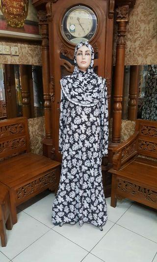 Gamis dress arab hoodie L