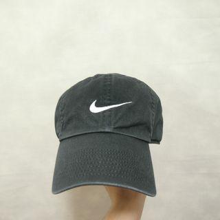 三件7折🎊 Nike 老帽 彎帽 鴨舌帽 黑洗石 電繡logo 極稀有 老品 復古 古著 Vintage