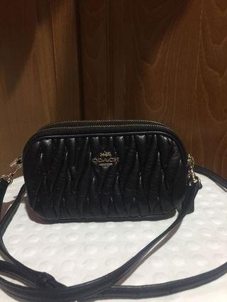 Black Coach Wallet Sling Bag