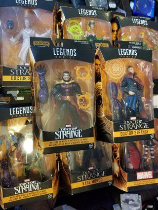 Hasbro Marvel Legends Dr. Strange Series 整套8盒連BFA Dormammu (Complete set 8 boxes with BFA Dormammu)