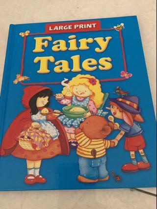 Large Print Fairy Tales Book