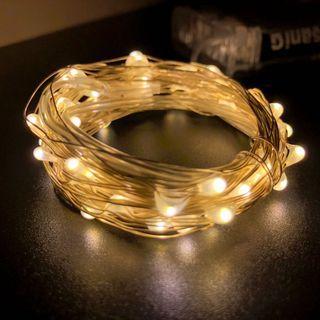 *全新* LED 串燈 5米 銀串燈 燈串 銅燈 女朋友 求婚 禮物 盒 花 佈置 裝飾 求婚 拍拖 房間佈置