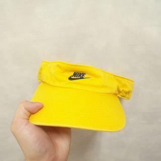 三件7折🎊 Nike 老帽 遮陽帽 彎帽 黃 電繡logo 極稀有 老品 復古 古著 Vintage