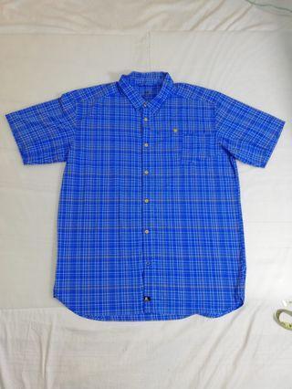 🚚 Ngu古著 藍色格子襯衫