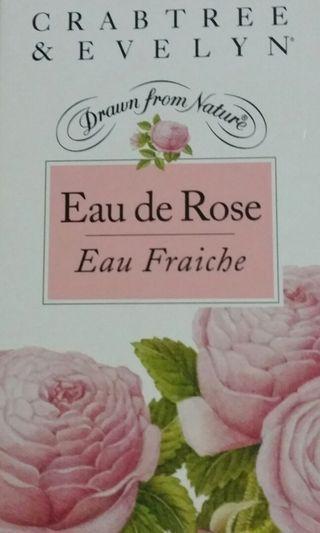 CRABTREE & EVELYN Rosewater Eau Fraiche 3.4 Oz 100 ml