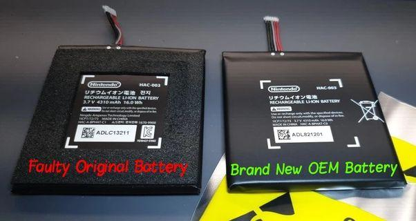 🎮 NS OEM Replacement Battery 3.7V 4310mAh + Installation