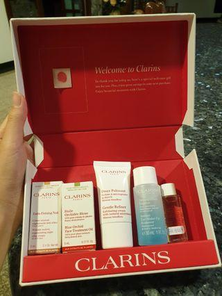 Clarins skin care set