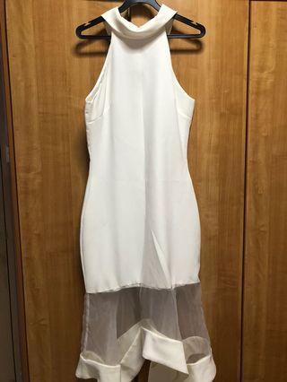 MDS White Mermaid Dress