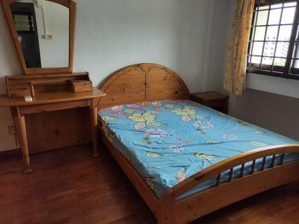 Queen-size Pinewood Bed Frame