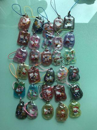(包郵) Hello Kitty 7-11 2007年版吊飾30個
