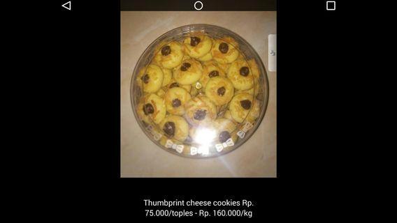 Kue Lebaran thumbprint cheese cookies #BAPAU