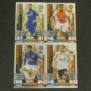 14/15 Topps Match Attax Limited Edition - Fabregas / Sanchez / Barkley / Eriksen #Chelsea #Arsenal #Everton #Tottenham Hotspurs