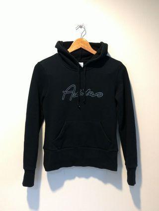 愛迪達 Adidas 鑽貼字母 黑色純棉連帽上衣