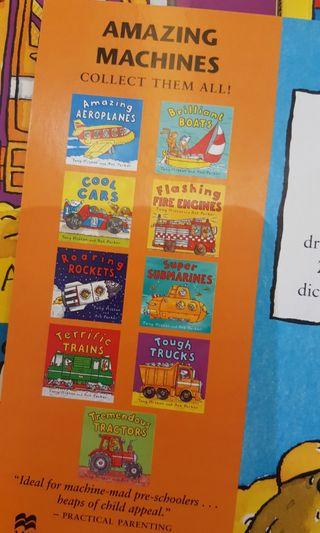 Tractor n machines books for toddler