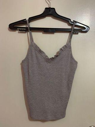 Brand new topshop grey spag top
