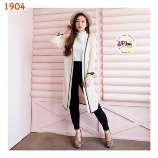 Long Outer / Knit outer import / cardigan panjang rajut / cardigan rajut impor list / 1904